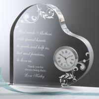 Dear Mom Heart Clock