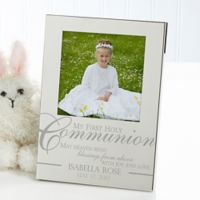 My First Holy Communion 4.5-Inch x 6.5-Inch Picture Frame in Silver