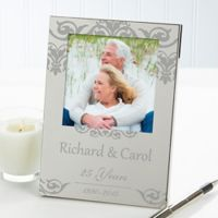 Anniversary Memories 4.5-Inch x 6.5-Inch Picture Frame in Silver