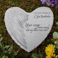 Your Wings Memorial Heart Garden Stone