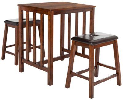 safavieh ilana 3 piece pub set in chestnut - 3 Piece Pub Table Set