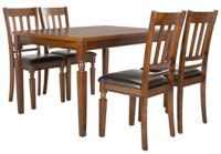 Safavieh Kodiak 5-Piece Dining Set in Chestnut