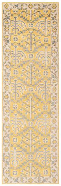 Safavieh Stone Wash Jaime 2'6 x 10' Handcrafted Rug in Yellow