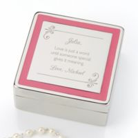 Passionately Pink Personalized Jewelry Box