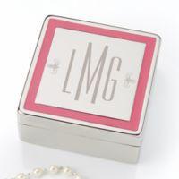 Pretty in Pink Monogrammed Jewelry Box