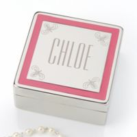 Pretty in Pink Engraved Jewelry Box
