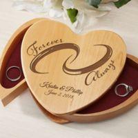 Forever and Always Wedding Ring Bearer Box