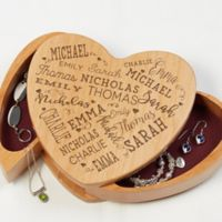 Close To Her Heart Wooden Heart Jewelry Box