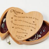 Someone Like You Wooden Heart Jewelry Box