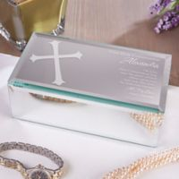 First Communion Blessing Mirrored Storage Box