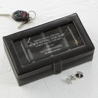 Wishes to Inspire Leather 12-Slot Accessory Box in Black