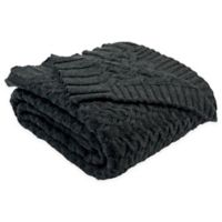Safavieh Affinity Knit Throw Blanket in Dark Grey