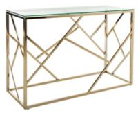 Safavieh Namiko Console Table in Polished Brass