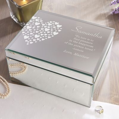 Love Is Kind Large Engraved Mirrored Storage Box & Buy Personalized Storage from Bed Bath u0026 Beyond
