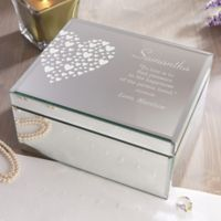 Love Is Kind Large Engraved Mirrored Storage Box