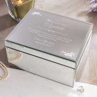 To My Bridesmaid Large Engraved Mirrored Jewelry Box