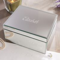 Reflections Large Engraved Mirrored Jewelry Box