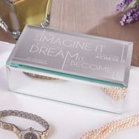 Inspiring Messages Small Engraved Mirrored Jewelry Box