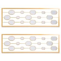 Southern Enterprises 17-Inch x 52-Inch Rectangular Mirrored Wall Panels in Gold (Set of 2)