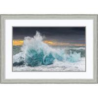 """Amanti Art """"Icy Wave"""" 35-Inch x 25-Inch Framed Print Wall Art"""