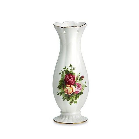 Royal Albert Old Country Roses Pierced Vase