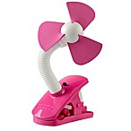 O2COOL® 4-Inch Stroller Clip Fan in Raspberry