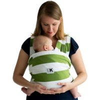 Baby K'tan® Print Extra Extra Small Striped Baby Carrier in White/Olive