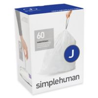 simplehuman® Code J 60-Pack 8-Gallon Custom Fit Liners