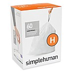 simplehuman® Code H 60-Pack 30-35-Liters Custom-Fit Liners in White
