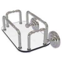 Allied Brass Que New Wall Mounted Guest Towel Holder in Satin Nickel