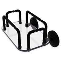 Allied Brass Que New Wall Mounted Guest Towel Holder in Matte Black