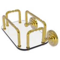 Allied Brass Que New Wall Mounted Guest Towel Holder in Polished Brass