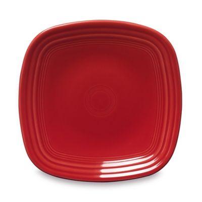 fiesta square luncheon plate in scarlet - Fiesta Plates