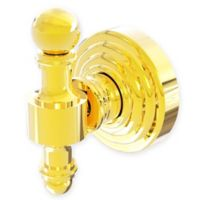 Allied Brass Retro Wave Robe Hook in Polished Brass