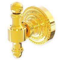 Allied Brass Retro Dot Robe Hook in Polished Brass
