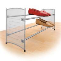 Lynk Expandable Mesh Shoe Rack in Platinum
