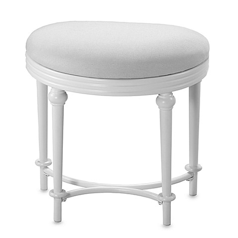 Hillsdale Hampton Kidney Shape Vanity Stool Bed Bath amp Beyond