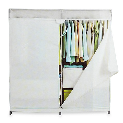 real simple 60 inch wide canvas closet bed bath beyond