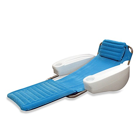 Swimways catalina lounge floating pool chair bed bath - Swimming pool floating lounge chairs ...