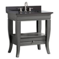 Avanity Milano 31-Inch Vanity Combo with Charcoal Granite Top and Mirror in Light Charcoal