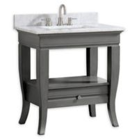 Avanity™ Milano 31-Inch Single Vanity with Sink and Mirror in Light Charcoal/White