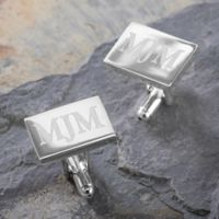 Herrington Collection Engraved Silver Cufflinks
