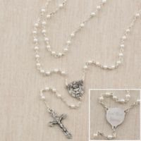 First Communion Girl's 15-1/2-Inch Pearl Rosary
