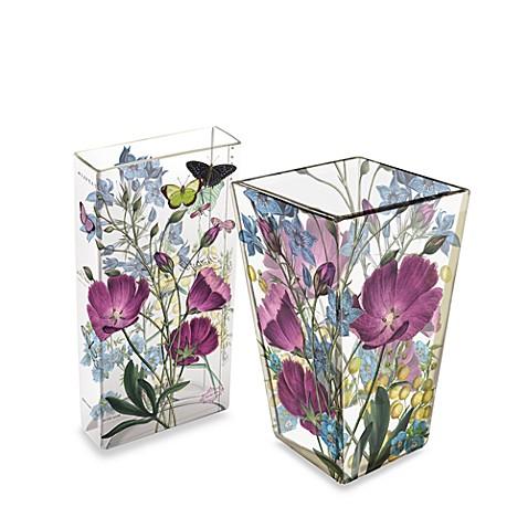 Fringe Studio Purple Poppies Transferware Glass Vases Bed Bath
