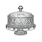 Godinger Dublin Crystal 4- in -1 Footed Cake Plate with Dome Cover