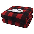 Biddeford® Microplush Digital Heated Throw in Red/Black