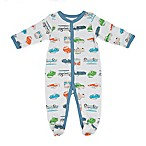 Sterling Baby Size 3M Retro Ride Footie in Blue