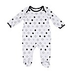 Sterling Baby Newborn Stars Footie in White