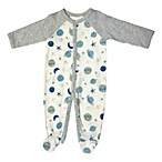 Sterling Baby Size 3M Planets Footie in Grey/Blue