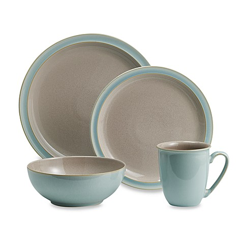 Denby Duets Dinnerware In Taupe Blue Bed Bath Amp Beyond